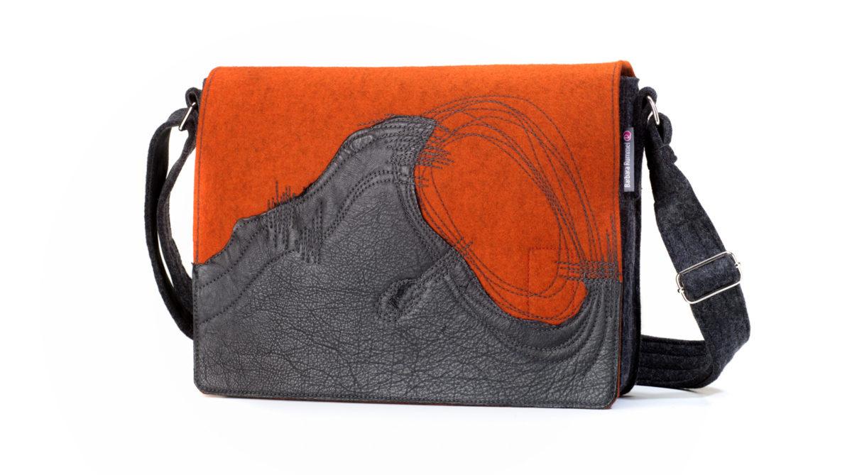 Damen Handtasche Jule aus Filz und Leder