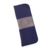 Brillenetui aus Wollfilz in blau-grau