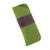 Brillenetui aus Wollfilz in grün-braun
