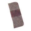 Brillenetui aus Wollfilz in stein-braun