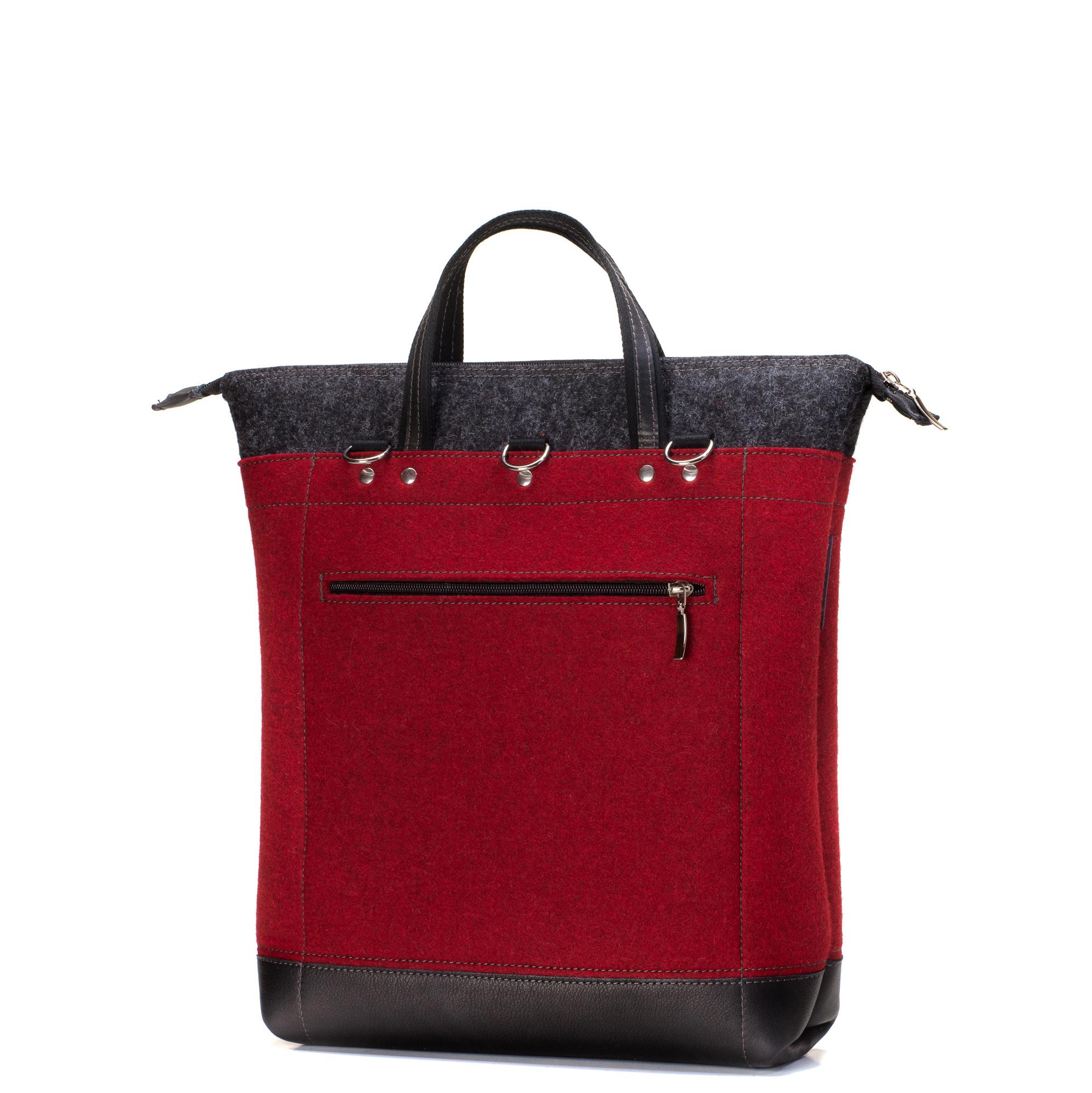 damen-handtasche-detail-filz-leder-paula-rot-designer-shop