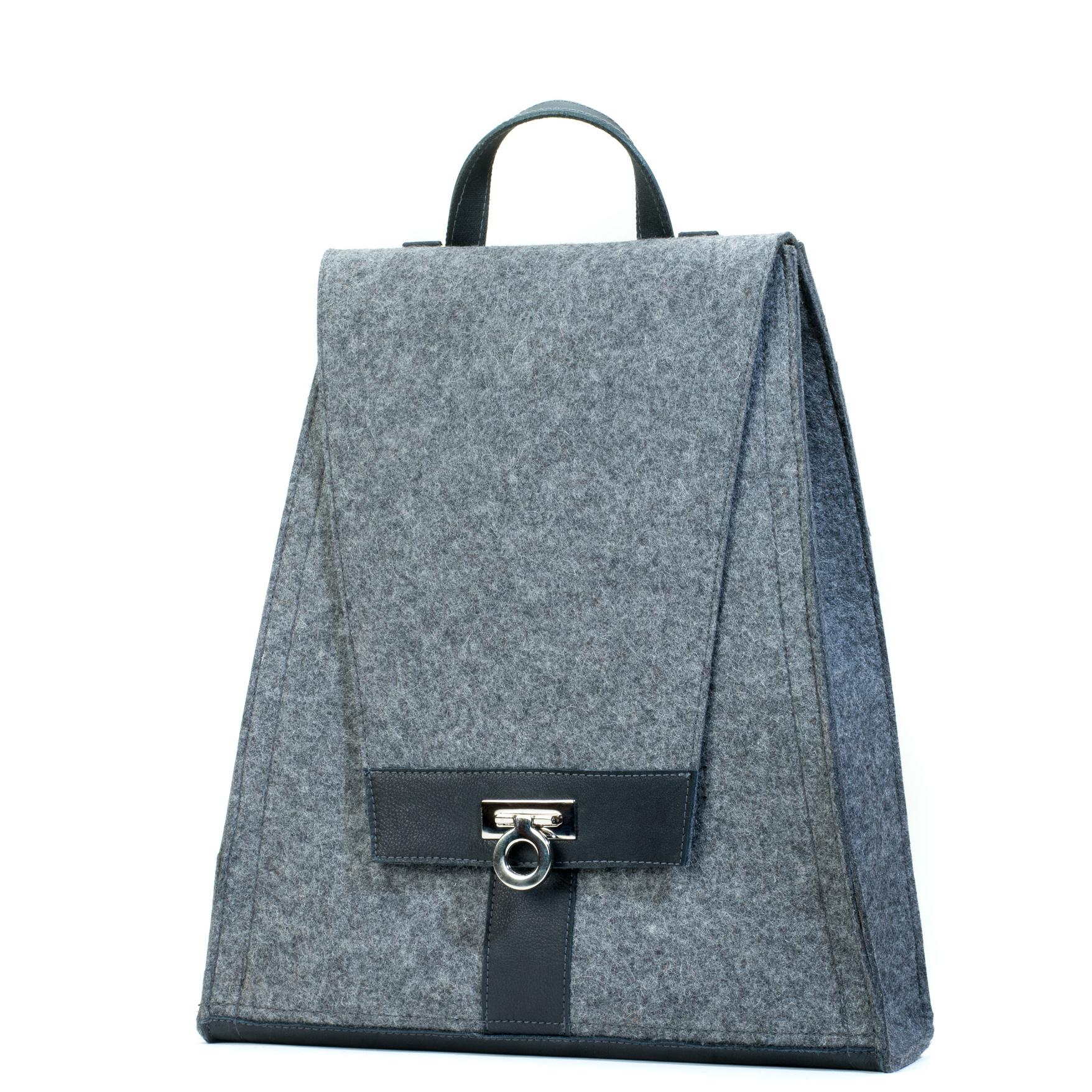 damen-handtasche-filz-grau-leder-rucksack-designer-shop