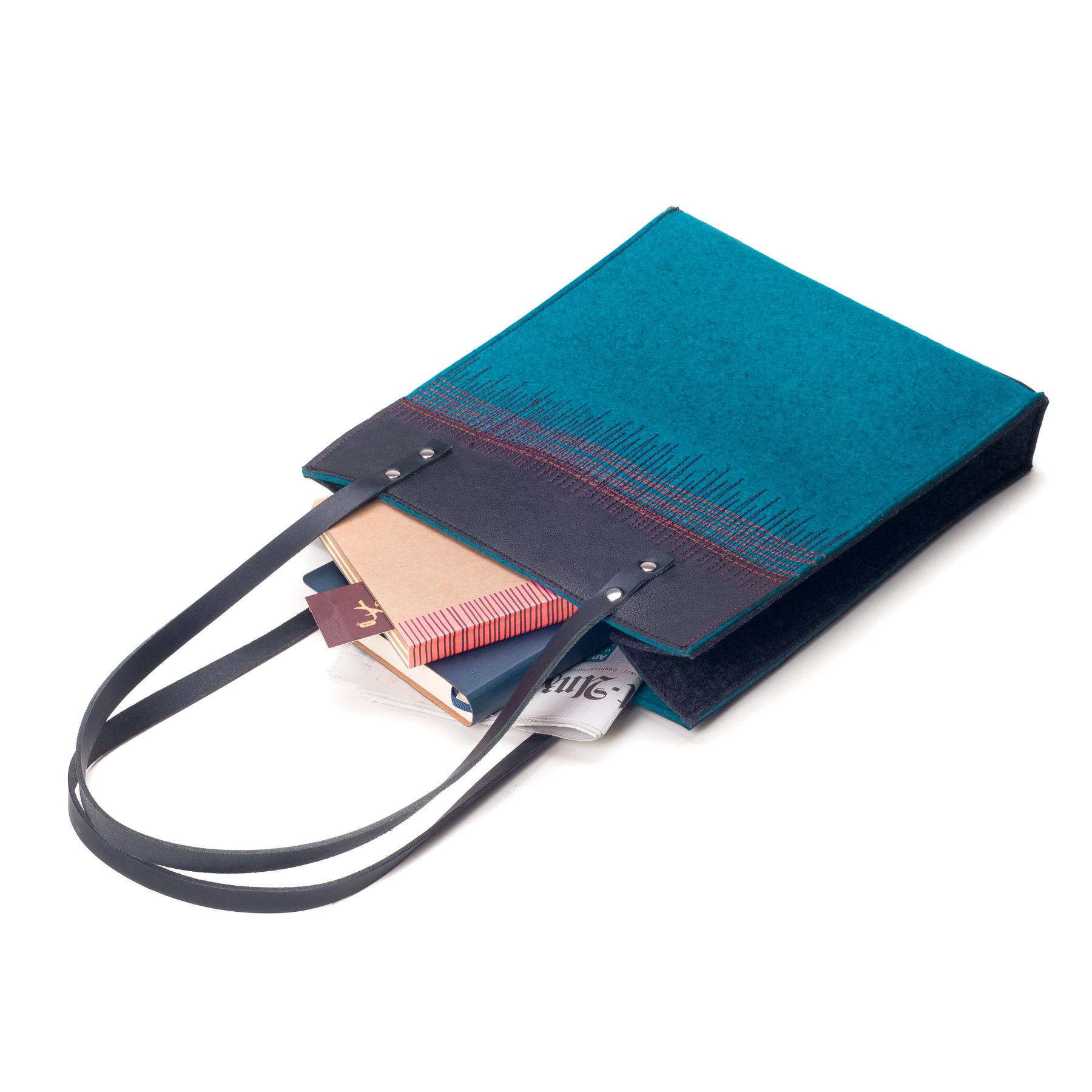 damen-handtasche-filz-leder-petrol-designer-shop-2