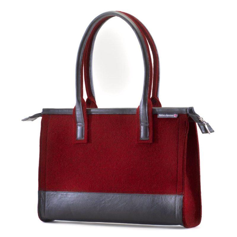 Die Handtasche Fina aus Filz und Leder