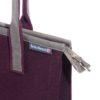 Elegante Handtasche Fina aus Filz und Leder Details