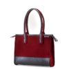 Handtasche Fina aus Filz in der Farbkombination Kirsch-Schwarz