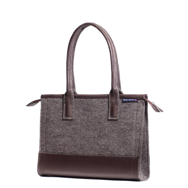 Handtasche Fina Farbkombi Nuss-Moor