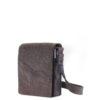 Handtasche Jule in Stein mit braunem Leder