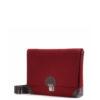 Handtasche Lilly aus Filz in der Farbkombination Kirsch-Braun