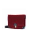 Handtasche Lilly aus Filz in der Farbkombination Kirsch-Schwarz