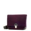 Handtasche Lilly in der Farbkombination Aubergine-Braun