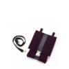 Handtasche Saskia aus Filz in der Farbkombination Aubergine-Schwarz