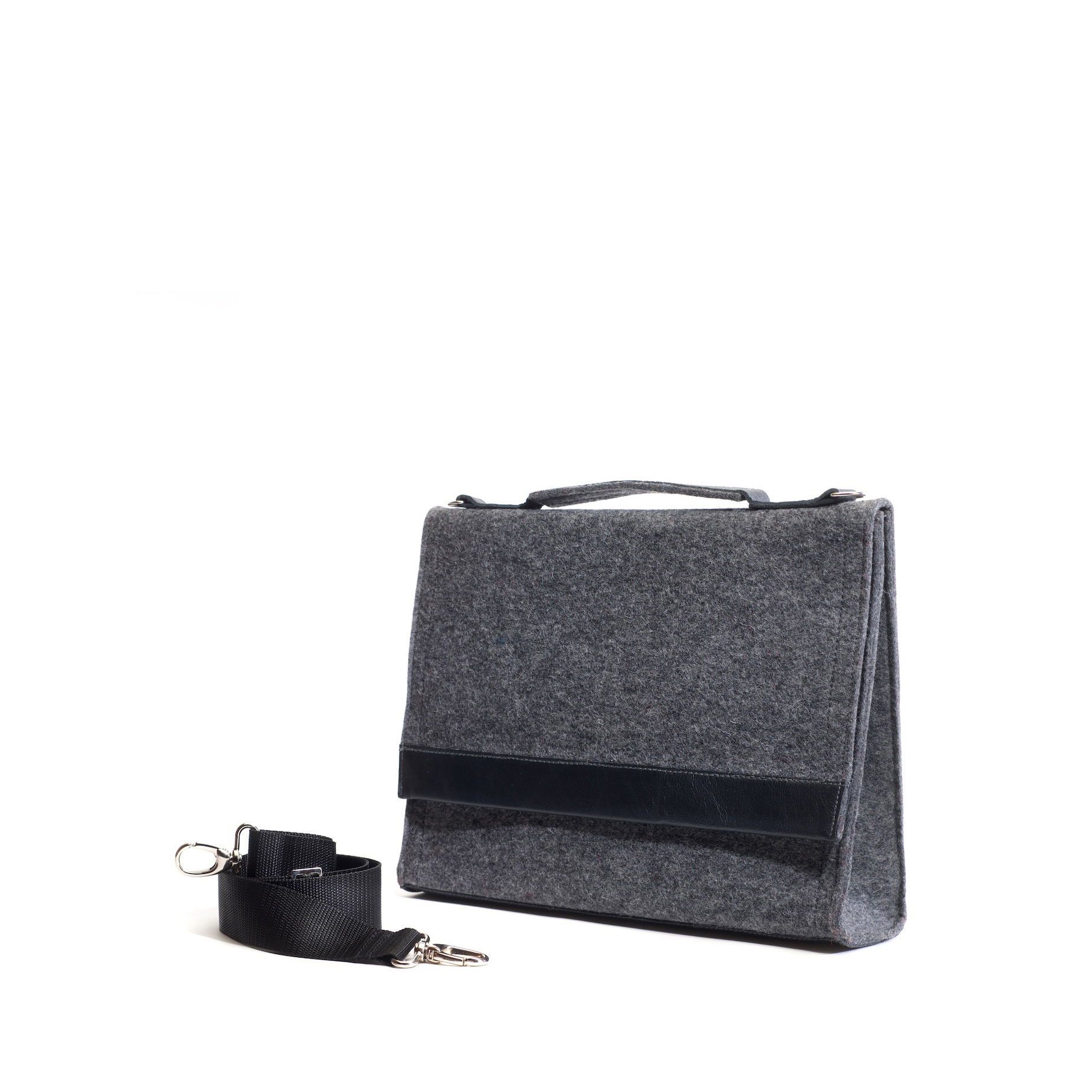 Handtasche-Sophie in Granit-Schwarz
