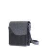 Die Handtasche Jule in Granit mit braunem Leder