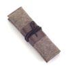 Stifte Etui Jette aus Filz und Leder mit der Farbkombination Stein-Braun